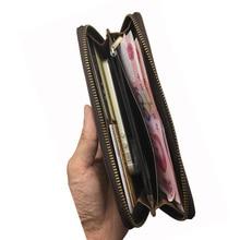 travel solid men genuine leather wallet