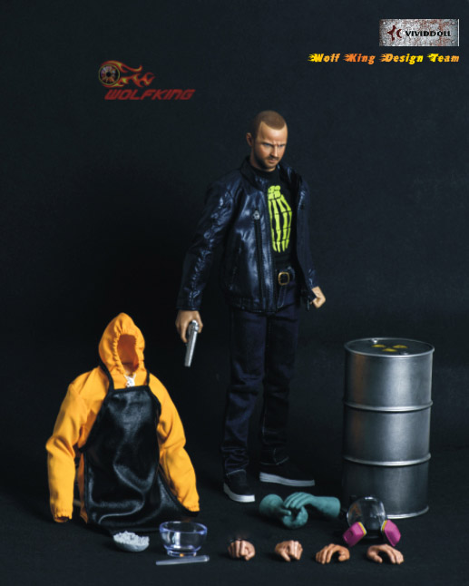Chemical Poisoning Partner Wolfking Action Figures Head w// Neck 1//6 Scale