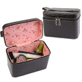 Wash Bags Large Capacity Cheap Crocodile Makeup Bags Pu Leather Storage Organizer Beauty Cases Hand-held Portable Cosmetic Bags