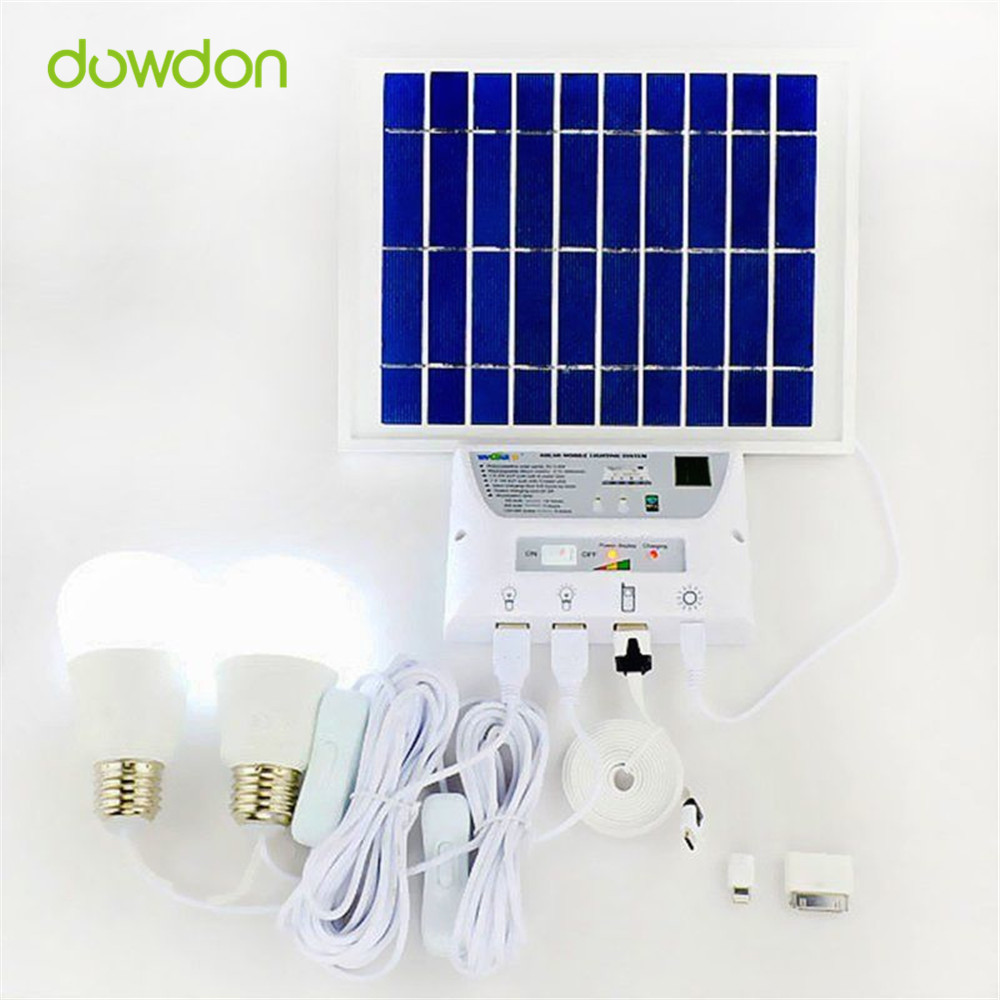 4.5W Solar Panel 5000mah Battery Mobile Solar Power LED Light Bulb ...