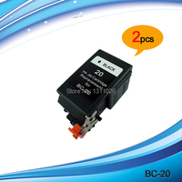 2PK BC 20 BK Remanufactured Ink Cartridges For S100 S100SP BJC 2000 SERIES 2000SP 2100 2110