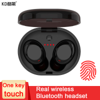 KD Mini Wireless Bluetooth Earphone And In Ear Stereo Hifi Microphone Headset With Portable Power Box