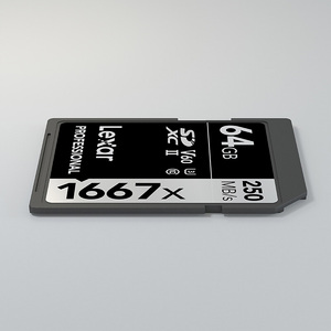 Image 5 - Ursprüngliche Lexar memoria SD Karte 1667x250 MB/s 64GB Speicher Flash Karte Class10 UHS II U3 SDXC für 1080p 3D 4K video Kamera karten
