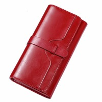 Hot Selling! Fashion Genuine Leather Wallets Brand Luxury Long Cowskin Women's Clutch Bags Business Card Holder Coin Purse 2017