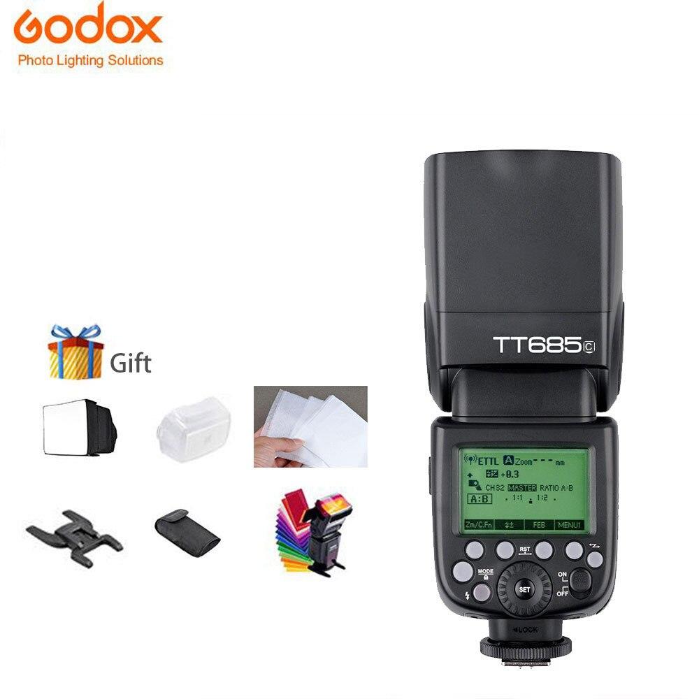 Godox tt685 TT685C TTL Flashes Speedlite Caméra Flash 2.4 ghz Haute Vitesse 1/8000 s pour Canon EOS Caméras