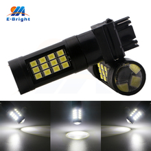 6pcs 20pcs 50pcs 12V/24V 2835 42 SMD Led Bulbs T25 3156 3157 6500K Auto Tail Reverse Turn Signal Light Black Free Shippping