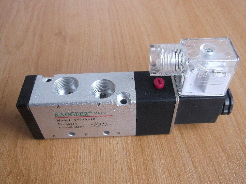 Airtac type Solenoid Valve, Pneumatic Control Valve, Reverse Solenoid Valve 4V310-10 airtac solenoid valve 3v220 08 3v200 series 3 2 way 1 4 bspt pneumatic air control valve