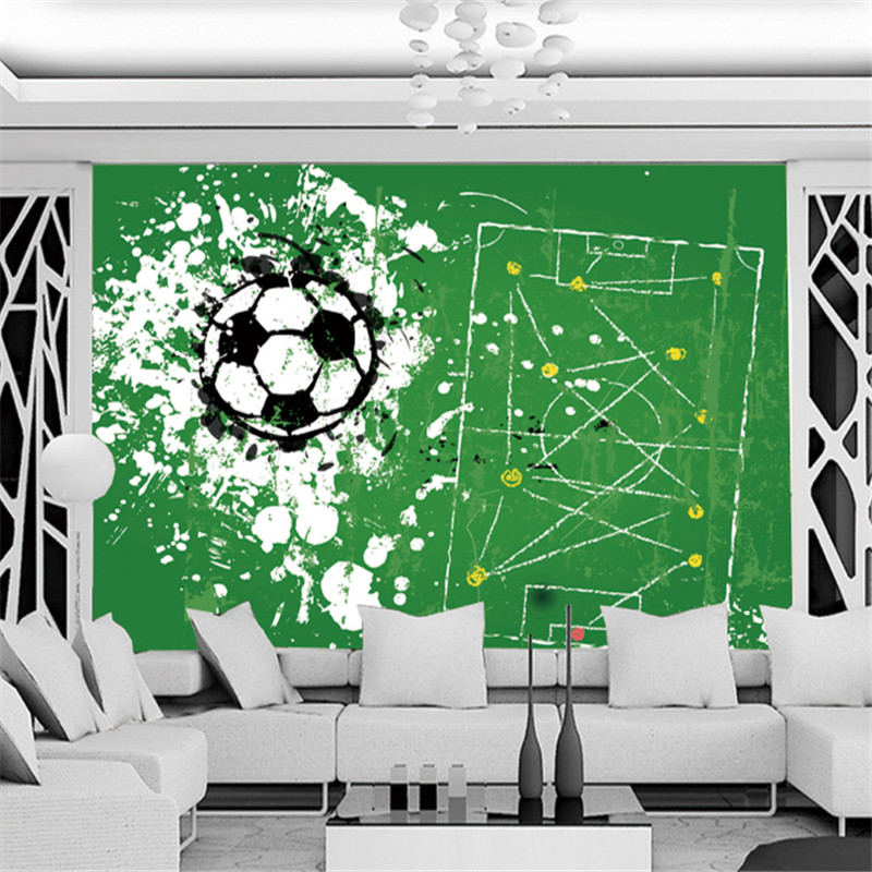 custom modern 3d photos high quality non-woven mural wallpaper 3d World Cup football painting tv sofa background wall decoration платья avigal платья