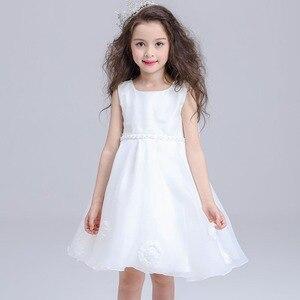 Платье принцессы для маленьких девочек, детское платье без рукавов с галстуком-бабочкой, платье на свадьбу и вечеринку, модная детская одеж...
