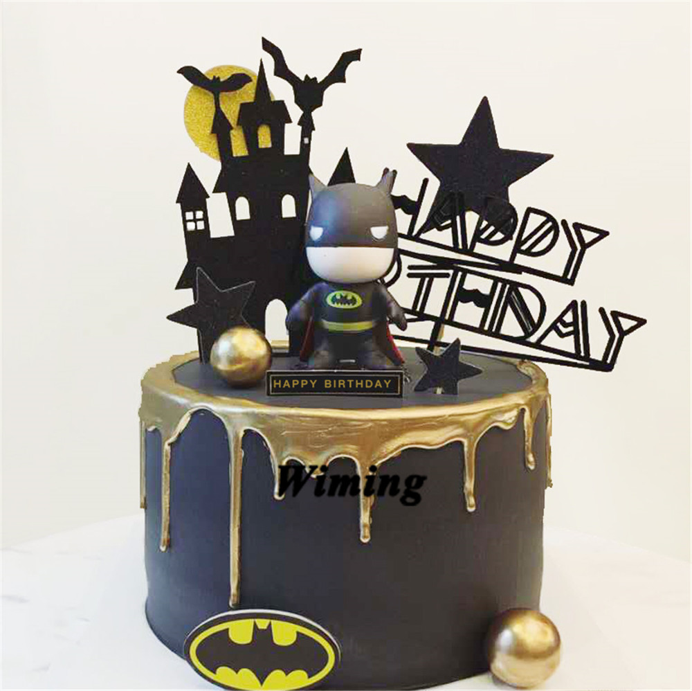 Outstanding Super Heroes Cake Topper Batman Birthday Party Decorations Adult Personalised Birthday Cards Paralily Jamesorg