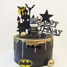 super heroes cake topper batman birthday party decorations adult kids toys superhero supplies superman cupcake toppers