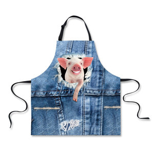 Cowboy Design Animal Pig Dog Cat High quality home leisure fashion kitchen supplies aprons