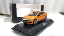 1:43 Diecast Model for Honda Civic 2016 MK10 Orange Alloy Toy Car Miniature Collection Gifts(China)