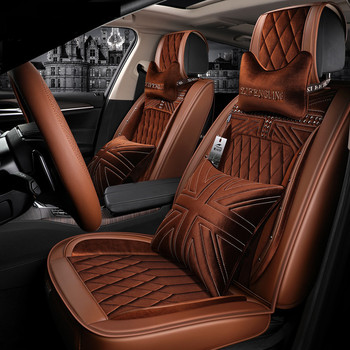 For Mazda 3/6/2 MX-5 CX-5 CX-7 3D Full Surround Design Sports Cushions Leather Black Red Orange Brown Car Seat Covers