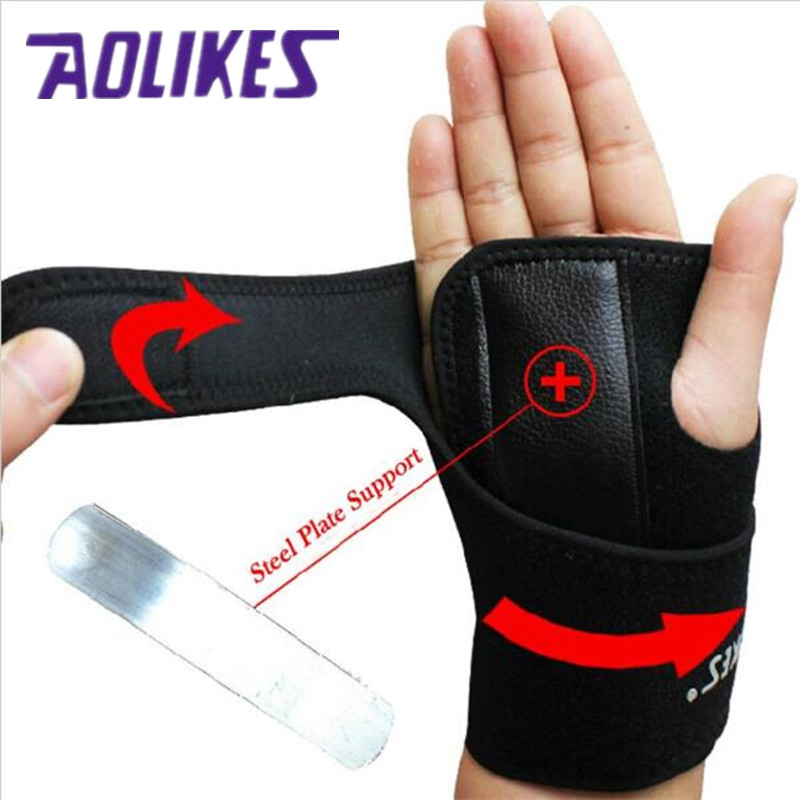 Removable Adjust Wristband Steel Wrist Brace Wrist Support Splint, Fractures Carpal Tunnel Sport Sprain Mouse Hand Unique