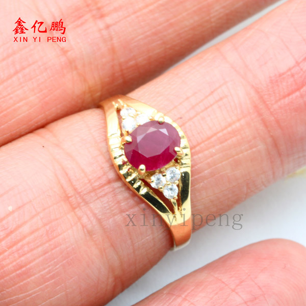 18 k gold, platinum natural ruby ring women give valuable color more than 1 carat gem The real thing to send mother 5