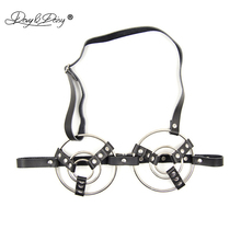 DAVYDAISY Women Sexy Bra PU Leather Open Bust Metal Rings Bralette Porn Intimates Sexy Lingerie Cropped Top Underwear Bras BR503