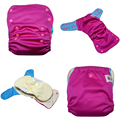 JinoBaby aio cloth diapers - Hot Pink Meet Sky Blue Reusable Bamboo Diapers for Babies