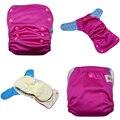 Jinobaby aio pañales de tela - Hot Pink Meet cielo azul reutilizable de bambú pañales para bebés