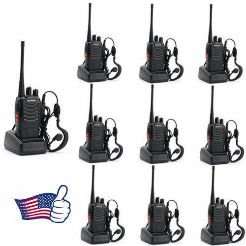 10PCS Baofeng BF-888S 400-470MHz 5W CTCSS Dual-Band Two-way Ham Radio Walkie Talkie Transceiver Bf888s 1500mAh Li-ion Battery