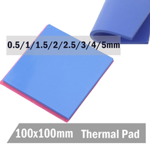 1PCS/ LOT 100 x 4mm Blue Silicone Conductive Compound Thermal Cooling Pad