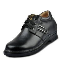 Business Formal Oxfords Newest Fashion Casual Calf Leather Heightening Elevator Shoes Hidden Insole Heels Grow Man