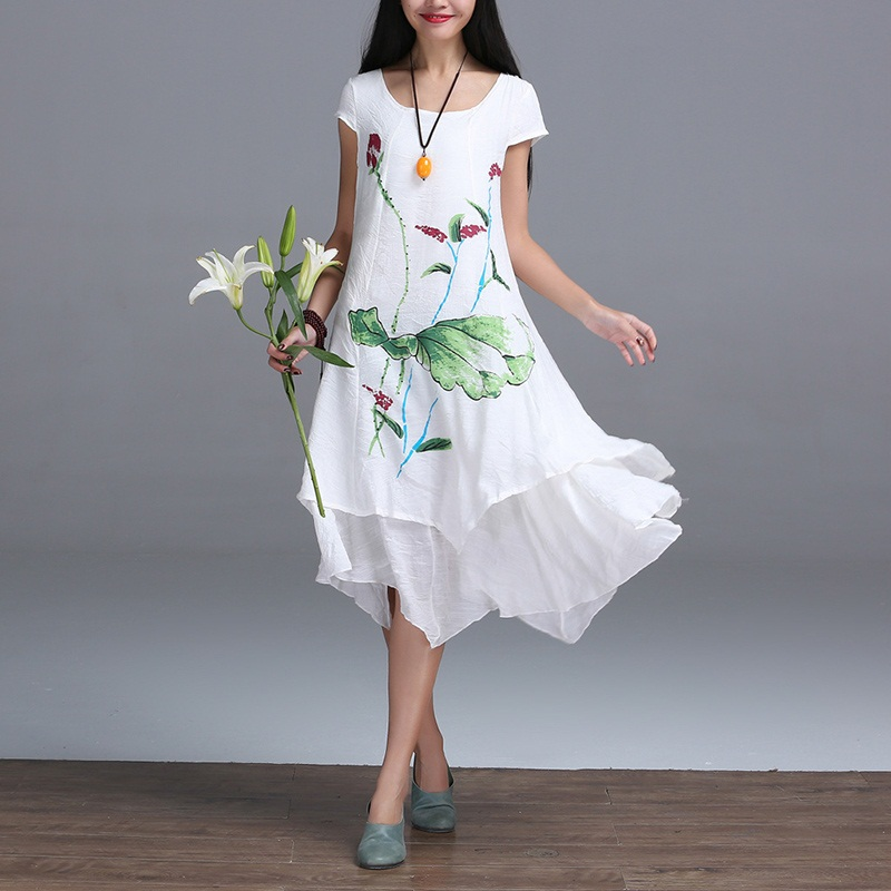 Cotton Dresses 2017 Summer Style New Fashion Women ...
