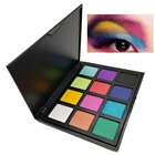 12 colors bright warm eyeshadow palette waterproof shimmer matte eyeshadow mineral yellow purple pink for stage makeup MOR017