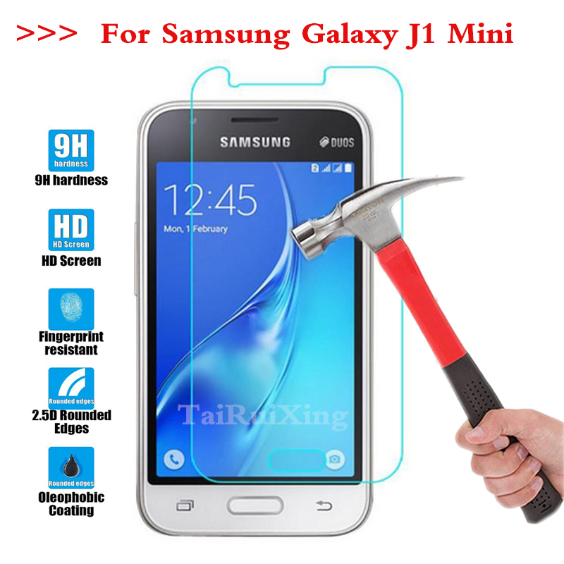 Screen Protector Film 0.3mm 9H 25D Front Premium Tempered Glass For <font><b>Samsung</b></font> <font><b>Galaxy</b></font> <font><b>J1</b></font> <font><b>Mini</b></font> J105 J1Mini <font><b>2016</b></font> <font><b>SM</b></font>-<font><b>J105H</b></font> <font><b>J1</b></font> <font><b>Mini</b></font> image