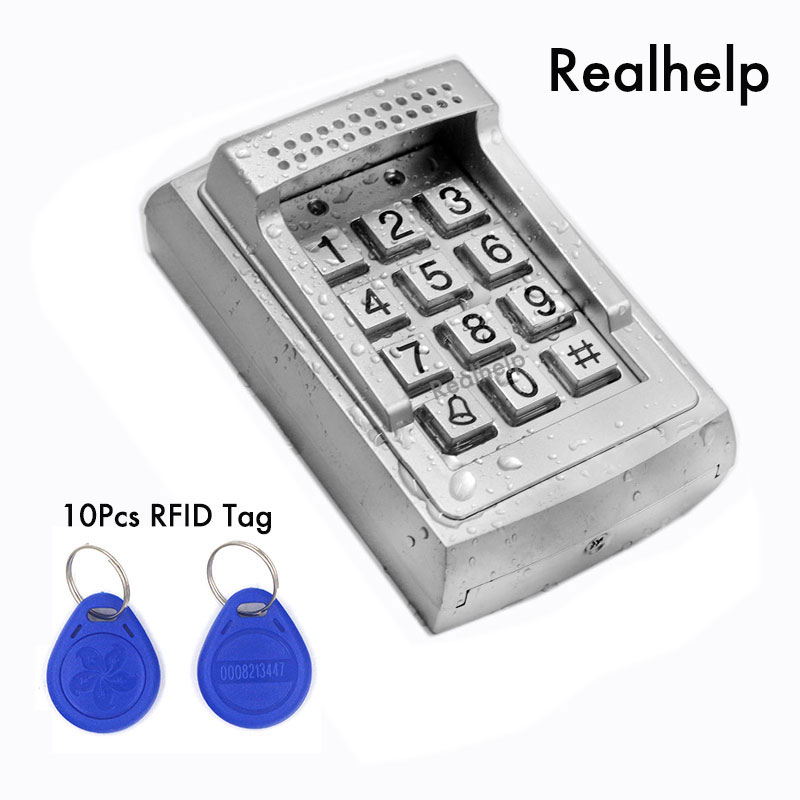 Metal Case RFID Reader door lock access standalone keypad system 1000Users Contactless Smart Card Access Built