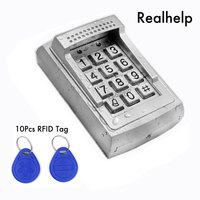 Metal Case RFID Reader door lock access standalone keypad system 1000Users Contactless Smart Card Access Built in Buzzer
