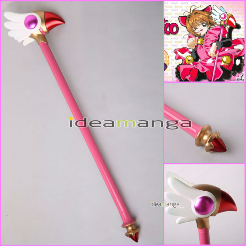 Costume Props Hearty Free Shipping Card Captor Sakura Kinomoto Sakura Cosplay Props Star Birds Magic Wand Weapon In Stock