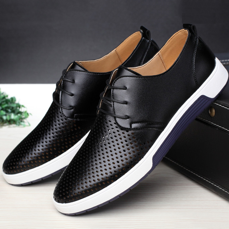 Men's shoes genuine leather breathable 19