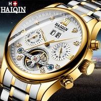 Relógios masculinos haiqin marca superior luxo automático relógio mecânico masculino militar à prova dmilitary água relógio de tourbillon relogio masculino|Relógios mecânicos| |  -