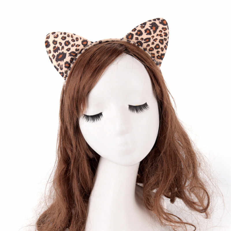 JCAAAP mujeres niñas niños fiesta Festival fantástico diadema de pelo corto de felpa Tigre leopardo Diadema con orejas de gato