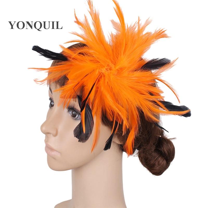 Várias cores headpiece pena alta qualidade fascinator chapéus com - Acessórios de vestuário - Foto 1