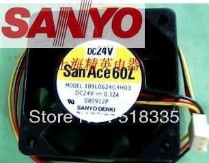 Для Sanyo109L0624G4H03 6 см 60 мм 6025 60*60*25 MM 24V 0.12A инвертор Сервер вентилятор охлаждения