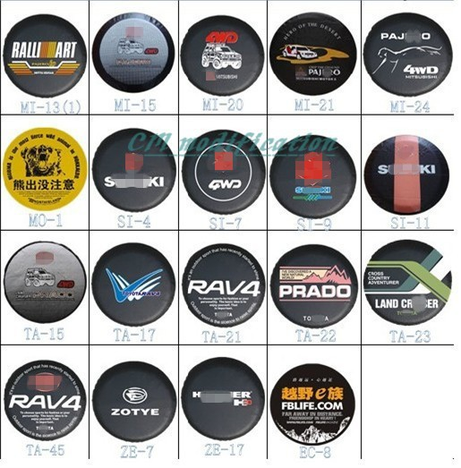 In 2013, factory direct sale. for Toyota RAV4 PU spare tire cover custom 14
