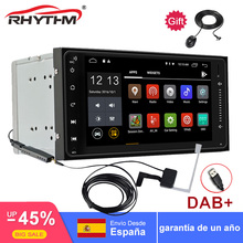 With dab tuner android Quad Core 2 din car radio gps navigation Wifi+Bluetooth+Radio for Toyota Hilux Camry Corolla Prado RAV4 smartech vehicle gps 8 core 2 din android 8 1 car radio gps navigation autoradio system support av out car wifi dab obd dvr tpms