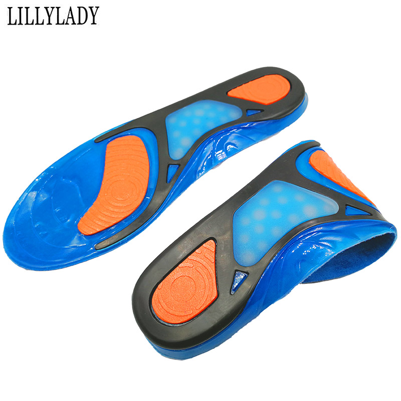Silicon Gel Insoles Orthotic Foot Care For Feet Shoes Sole Sport Insoles Shock Absorption Pads Arch For Men And Women Insole