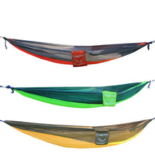 High quality Outdoor double parachute cloth hammock indoor swing bedroom Super load-bearing hang tent 2 person  patio furniture