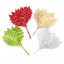 10 pçs ouro prata artificial de seda maple folhas casa festa de casamento decoração diy presente de natal artesanato scrapbooking falso flor