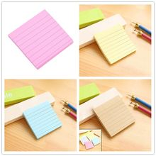 Cute Sticky Notes Memo Pad Soild Color Notepad Diy Kawaii Stationery School Stationery Set Office Supplies 7.5cmx7.5cm(China)