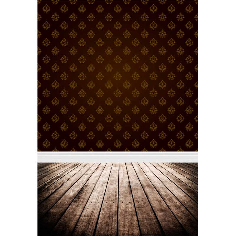 Photocall background dark brown damask leaves pattern photography background fabric for photo shoot studio photography backdrops 710 dark brown