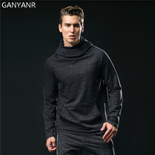 GANYANR Brand Running T Shirt Men Tennis Sportswear Jogging Fitness Tops Tee Hoodie Training Long Sleeve quick Dry Gym Exercise fitted quick dry gym long sleeve t shirt