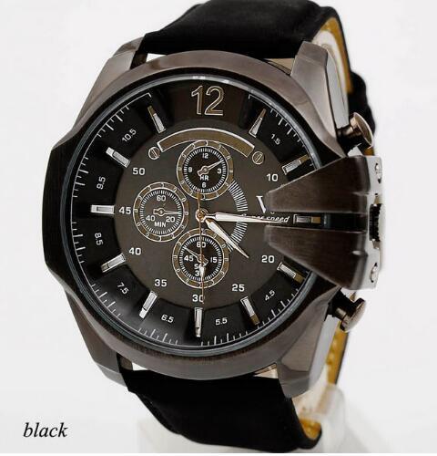 New Fashion Leather belts Watch Cheap Sports wristwatch listing Men watch Luxury Brand Watches Quartz Clock Hot Fashion