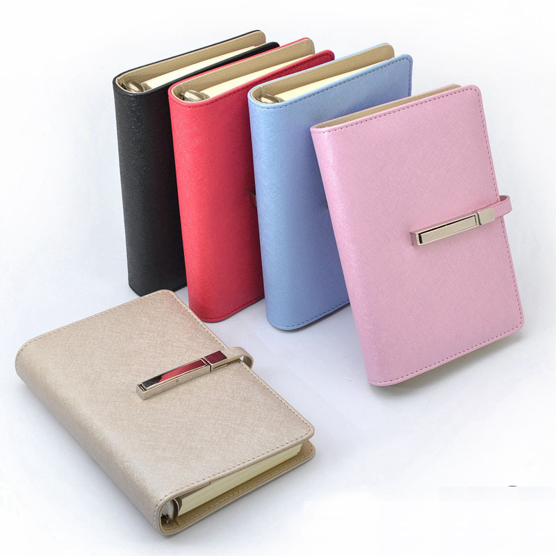 Hot Spiral Leather notebook notepad paper A5 A6 80 sheets Business diary Note book Office School Supplies Gift fashion spiral diary notebook with lock code password paper 80 sheets business note book notepad office school supplies gift