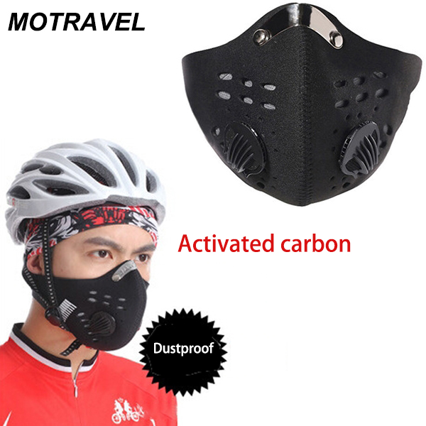 Outdoor Sport Anti Dust Mask Mens Cycling Motorcycle Racing Ski Half Face Mask Filter Air Pollutant Windproof Outdoor Protective outdoor cycling half face mask dust windproof anti pollen allergy activated carbon masks filter sports riding running lcc