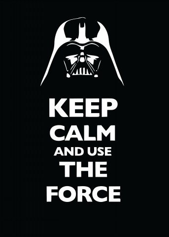 US $5.9 |Minimalist Art Print Canvas Painting Poster STAR Wars  Inspirational Quotes KEEP CALM AND SUE THE FORCE Wall Art No Frame-in  Painting & ...