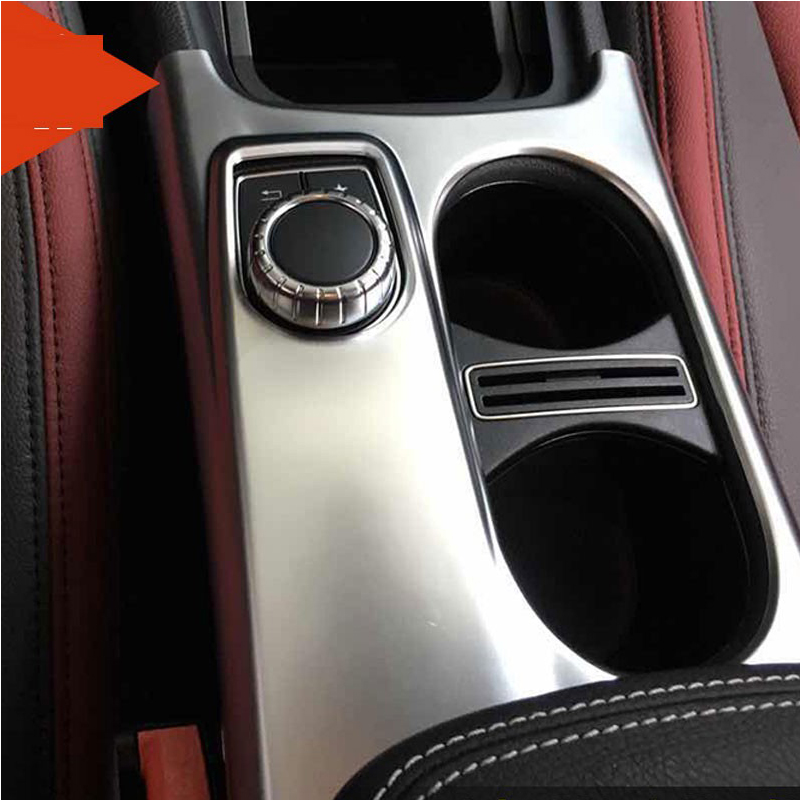 ABS Chrome Cup Holder Cover Trim Decoration For Mercedes Benz A/GLA/CLA Class C117 W117 2012-2017 AMG Car Styling Accessories abs chrome car headrest button cover trim decoration for mercedes benz c class w205 c180 c200 c260 glc260 2015 2016 accessories